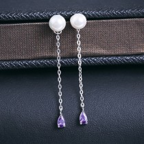 silver earring MLE411