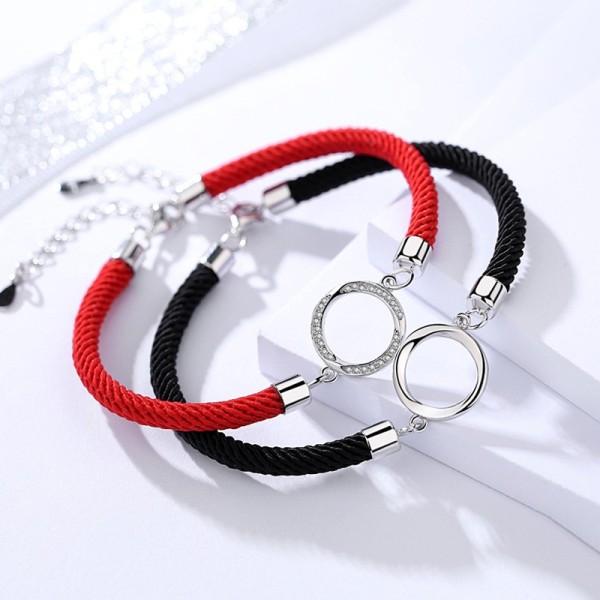 silver round bracelet 280