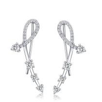 silver earring MLE159