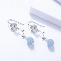 Silver flower earring 1497