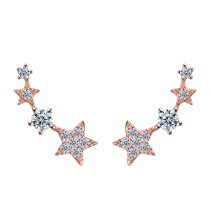 silver earring MLE190a