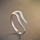 silver ring MLR239d(shuiping)