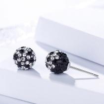 Silver Diamond earrings 1235
