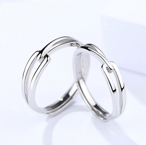 Silver Couple ring 395
