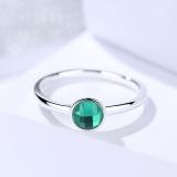 Silver green ring 512