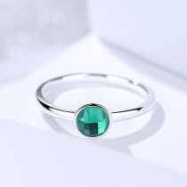 Silver green ring 512