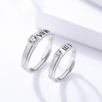 silver open ring 633