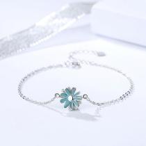 Silver Daisy Bracelet MLA313a