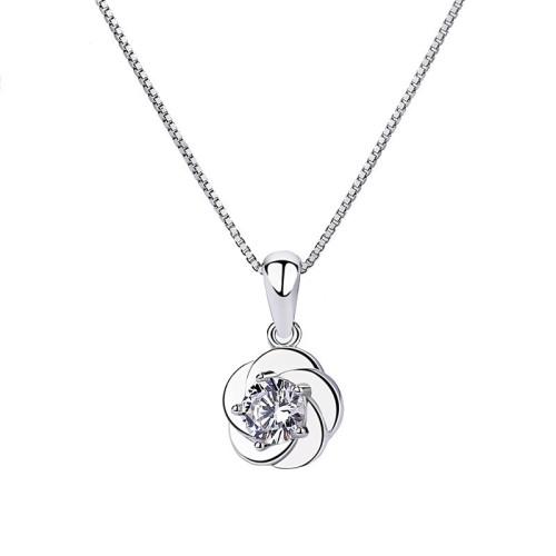silver flower pendant 975