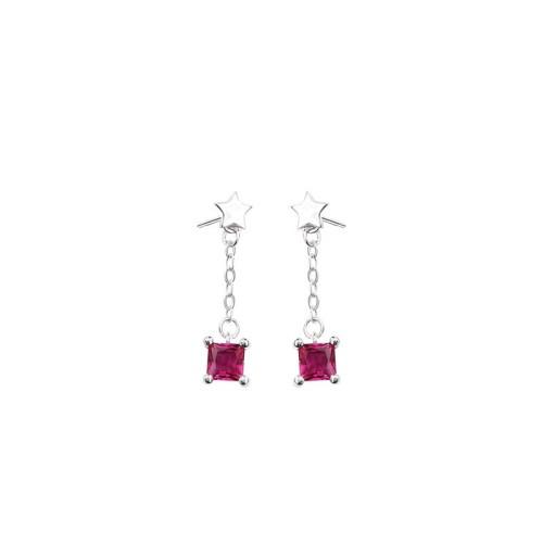 Silver star earrings MLE281