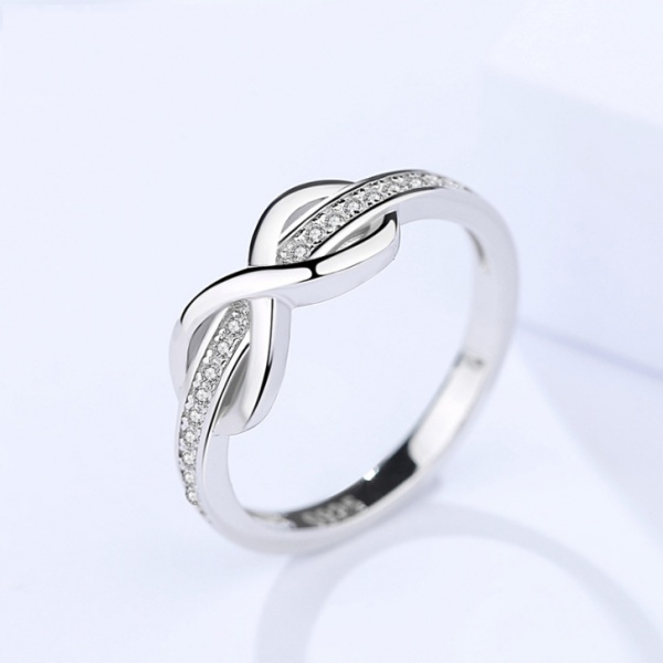Silver Simple ring 361