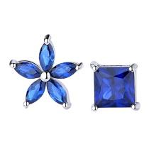 Silver flower earring MLA1219
