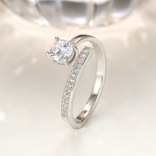 silver open ring 337
