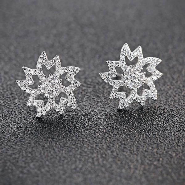 silver earring MLE493
