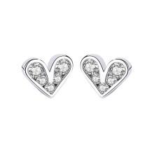 silver heart earring 592