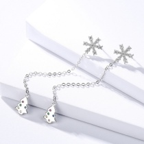 Silver snowflakes earring 1186