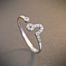 silver ring MLR239q(shizi)