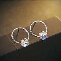 silver earring MLE458