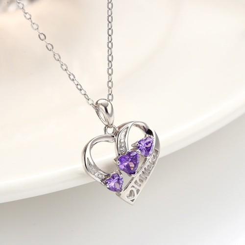 silver heart pendant 789