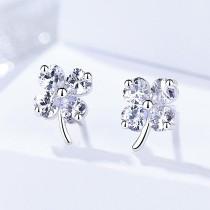 Silver clover earrings 575