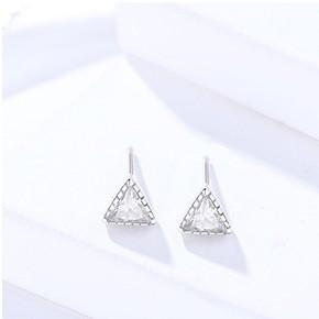 Silver triangle earrings 250