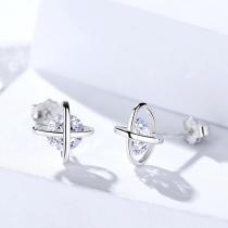 Silver Cross earrings 1278