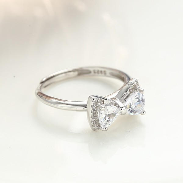 silver bow ring 325