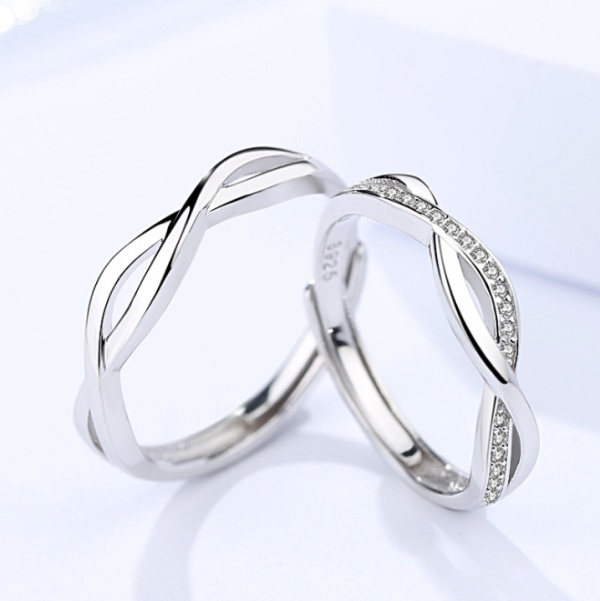 Silver Couple ring 396