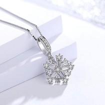 silver snowflakes pendant 976