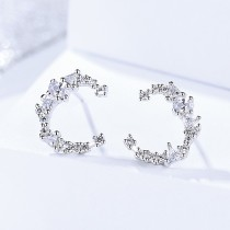 Silver crescent earrings 267