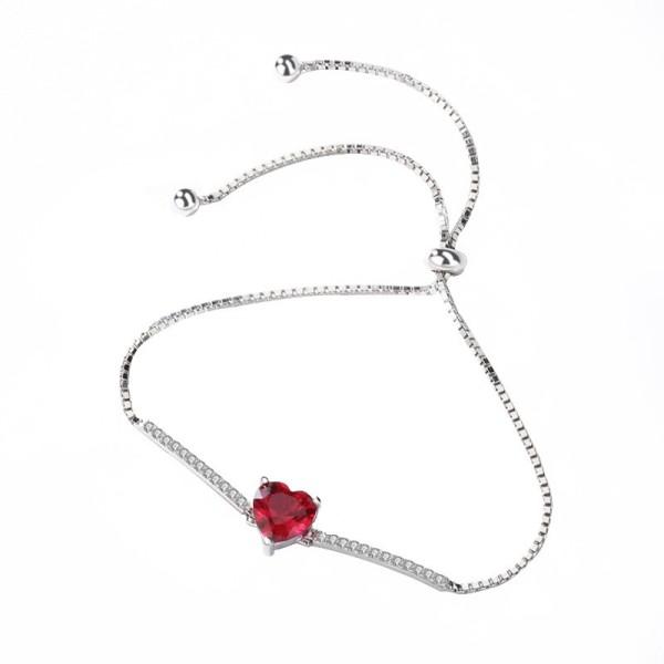 silver heart bracelet MLL296