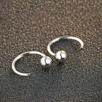 silver earring MLE460