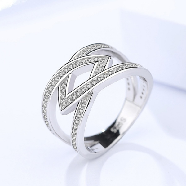Silver Hollow ring 358