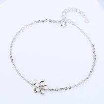 Silver flower bracelet MLAb339
