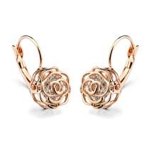 rose flower earring 086713
