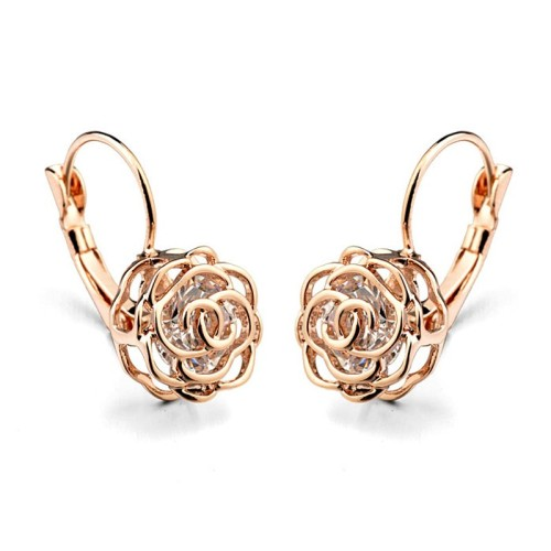 rose flower earring 086713