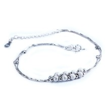 silver anklets MLL45a