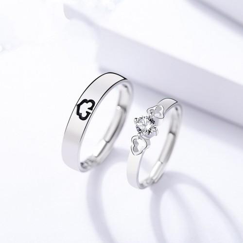 silver heart open ring 247