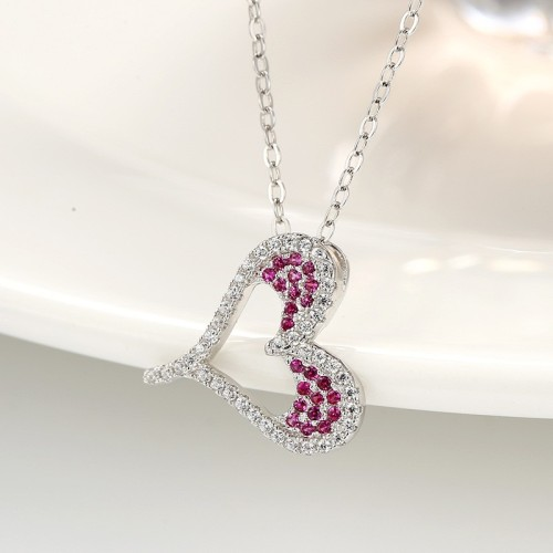 silver heart pendant 851