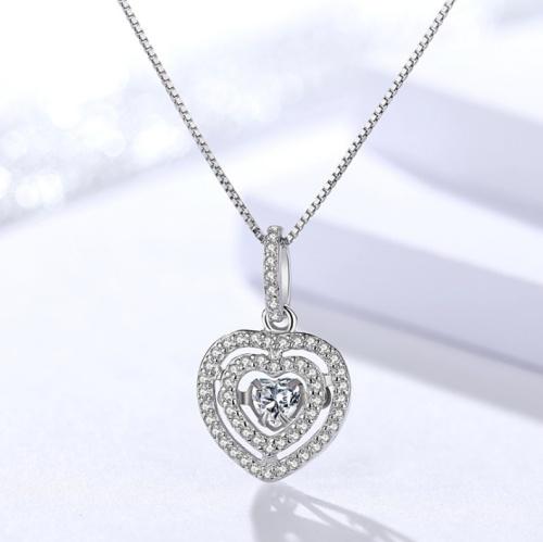 Silver heart pendant 991