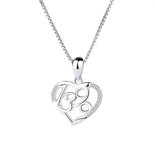 Silver heart pendant 1098