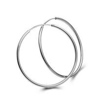 silver earring630137(50mm)