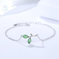 Silver Leaf bracelet MLA325a