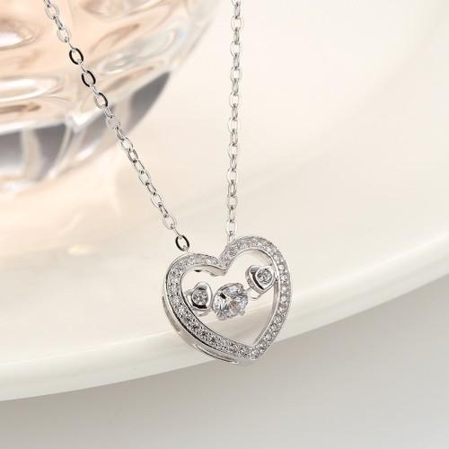 silver heart pendant 869