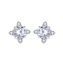Silver snowflake earrings 600