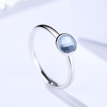 Silver blue ring 512