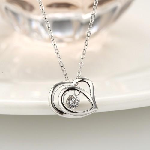 silver heart pendant 871