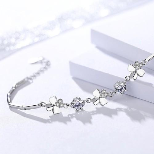 Silver Clover bracelet