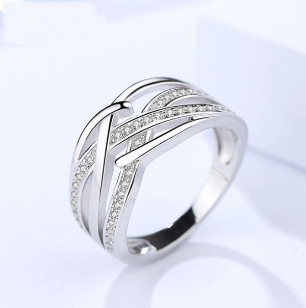 Silver Hollow ring 362