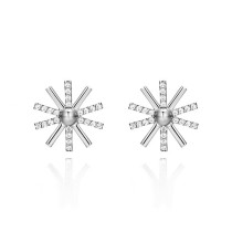 silver earring MLE386a